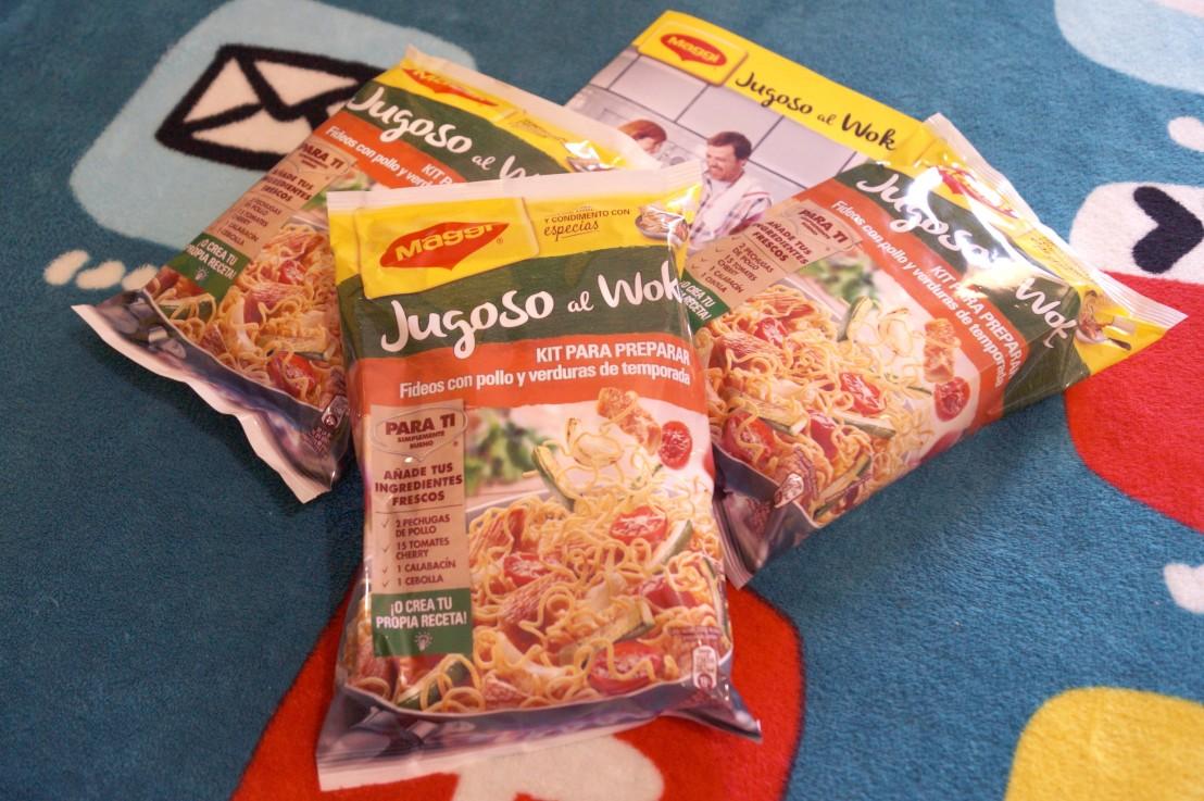 Probando jugoso al wok de maggi el carrito medio lleno for Cocinar wok en casa